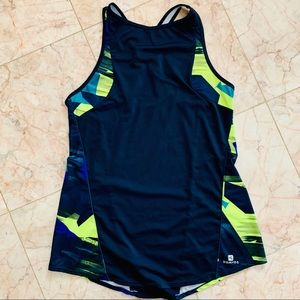 Domyos Fitted Athletic Tank Top, Gym Top